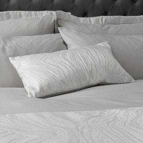Keeley Silver Jacquard Boudoir Cushion