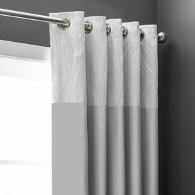 Keeley Silver Blackout Eyelet Curtains