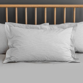 Riviera Grey Stripe Oxford Pillowcase