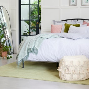 Riviera Grey Stripe 100% Cotton Duvet Cover and Pillowcase Set