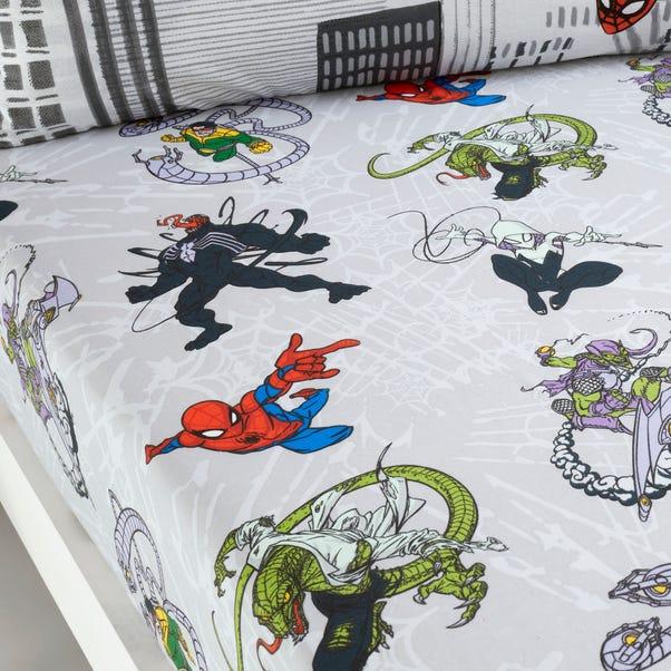 Disney Marvel Spider-Man Fitted Sheet White undefined