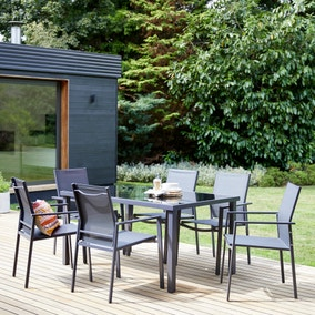 Osaka Grey 6 Seat Dining Set