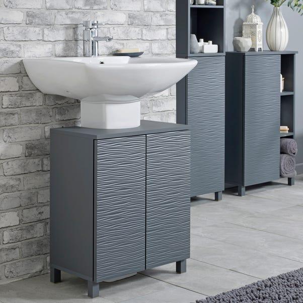 Grey Wave Under Sink Unit Grey