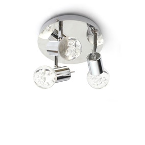 Spa Bubble LED 3 Light Bathroom Ceiling Light