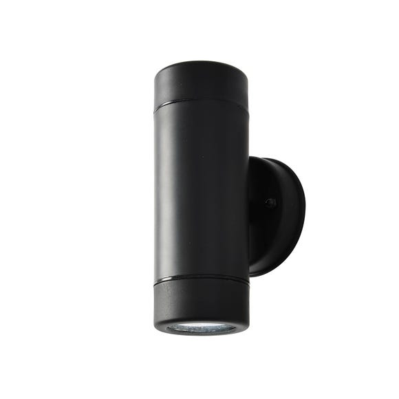 Coast Neso Up and Down Outdoor Wall Light Black Black