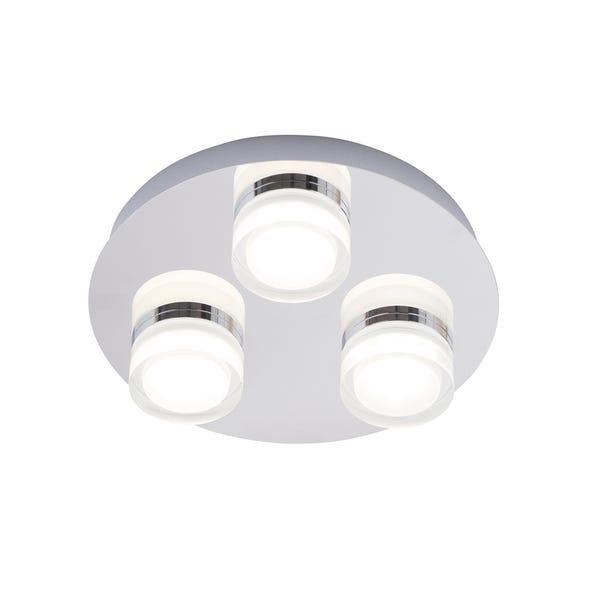 Spa Amalfi 3 Light Bathroom Ceiling Fitting Chrome