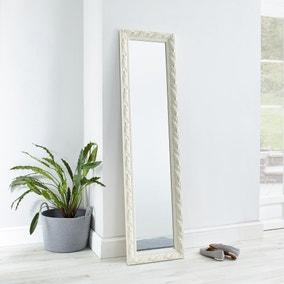 Decorative Leaner Mirror 166x45cm Ivory
