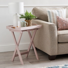 Edgar Butlers Tray Table - Dusky Pink