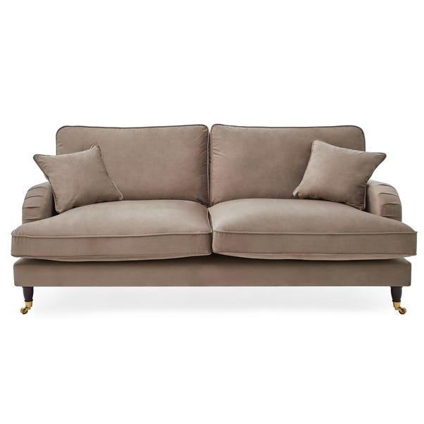 Rupert 3 Seater Velvet Sofa Cedar