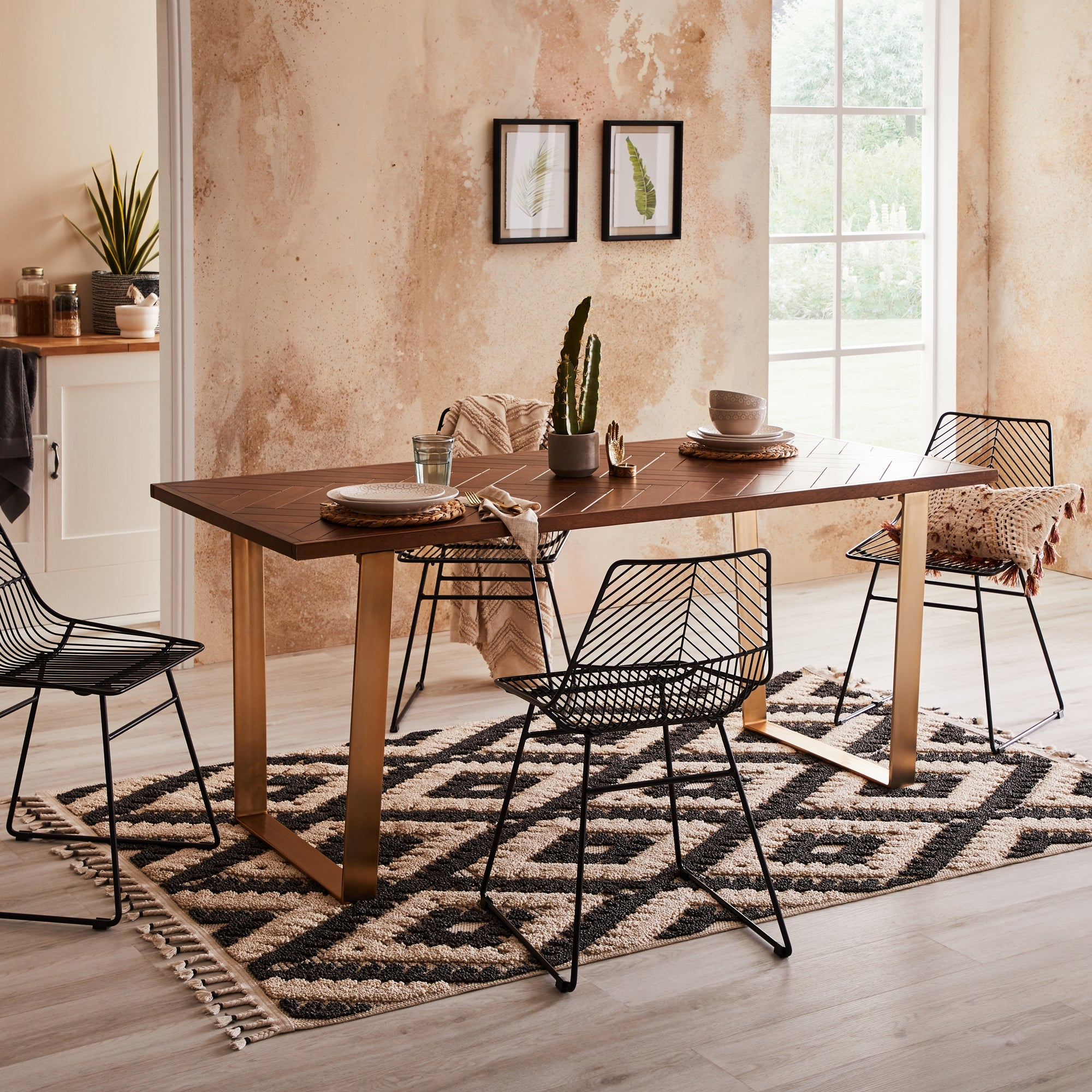 Anya Large Dining Table Brown