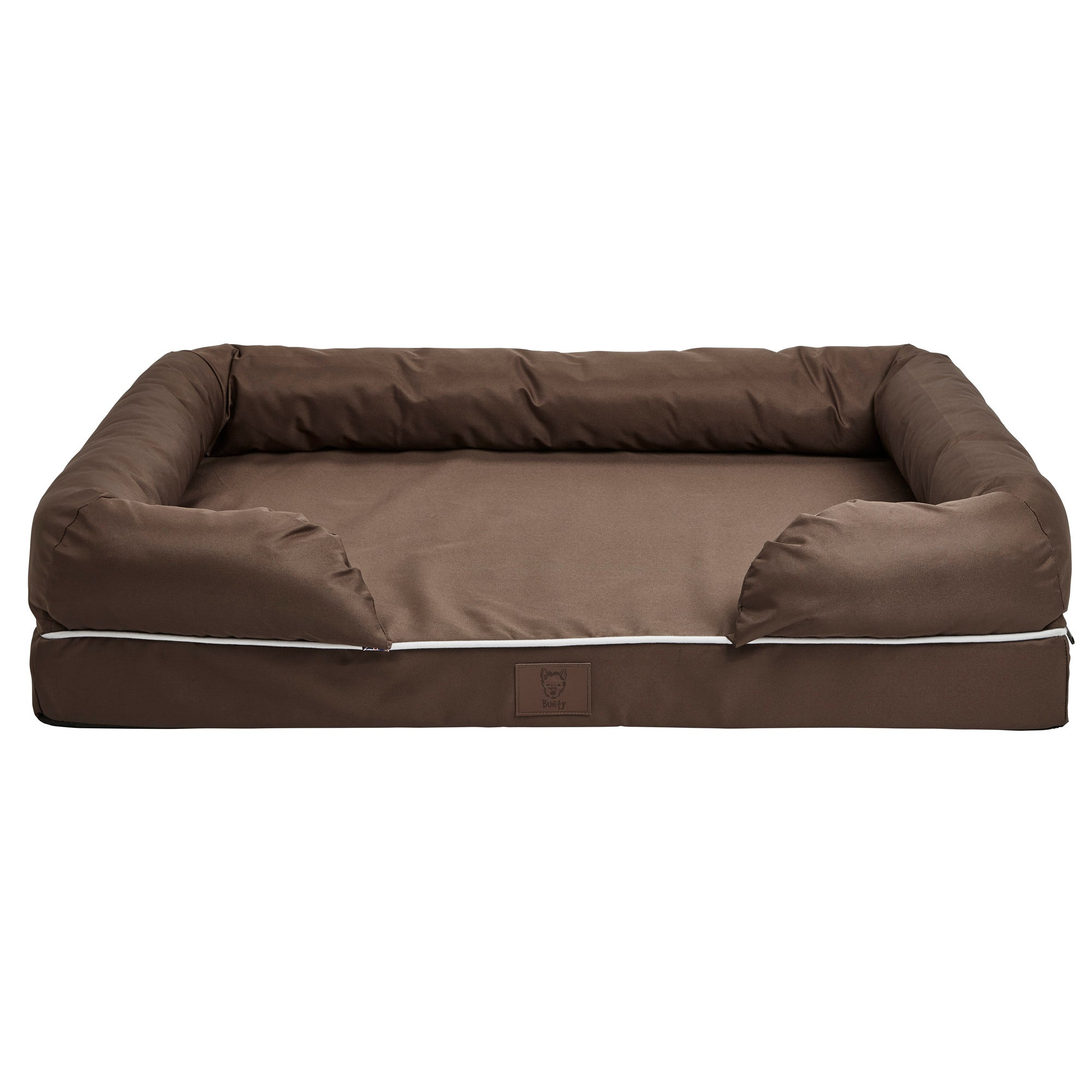 Bunty Brown Waterproof Cosy Couch Dog Bed Brown