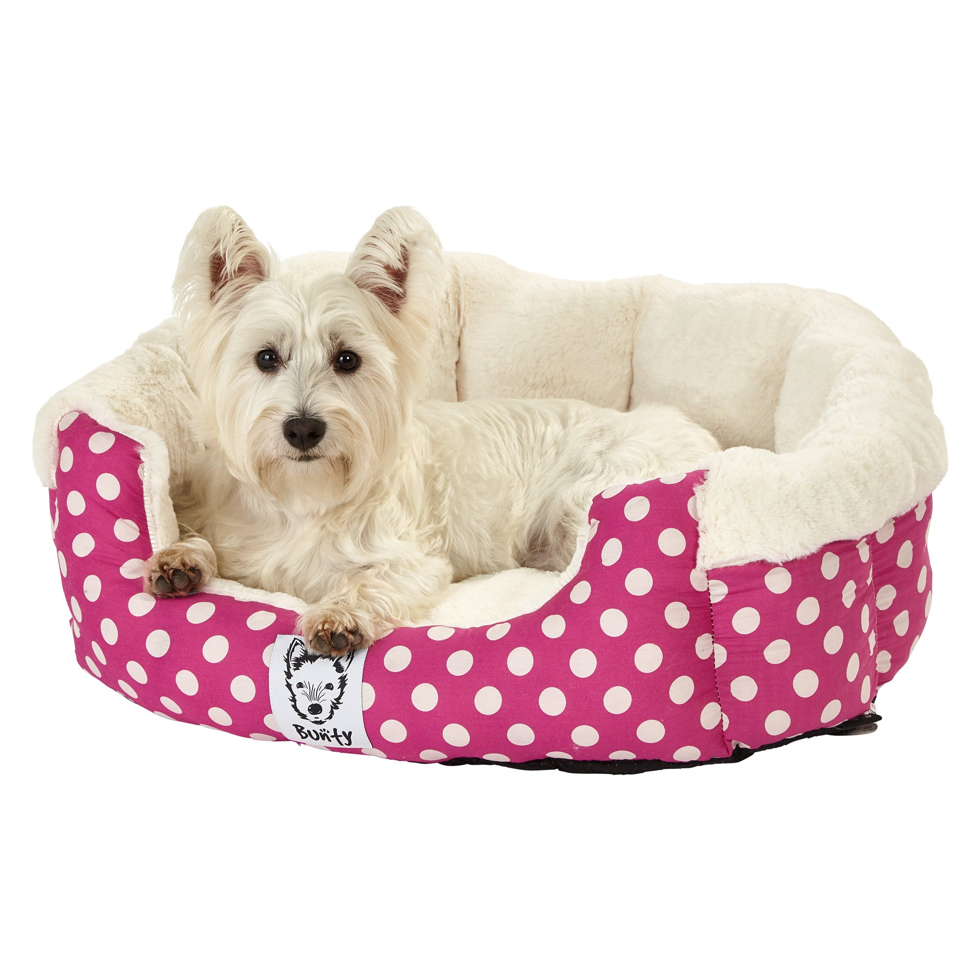 Bunty Pink Deep Dream Dog Bed Pink