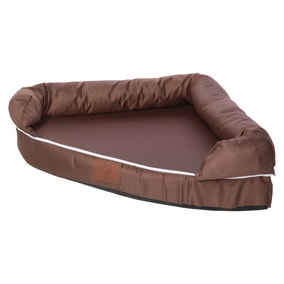 Bunty Brown Cosy Couch Corner Dog Bed