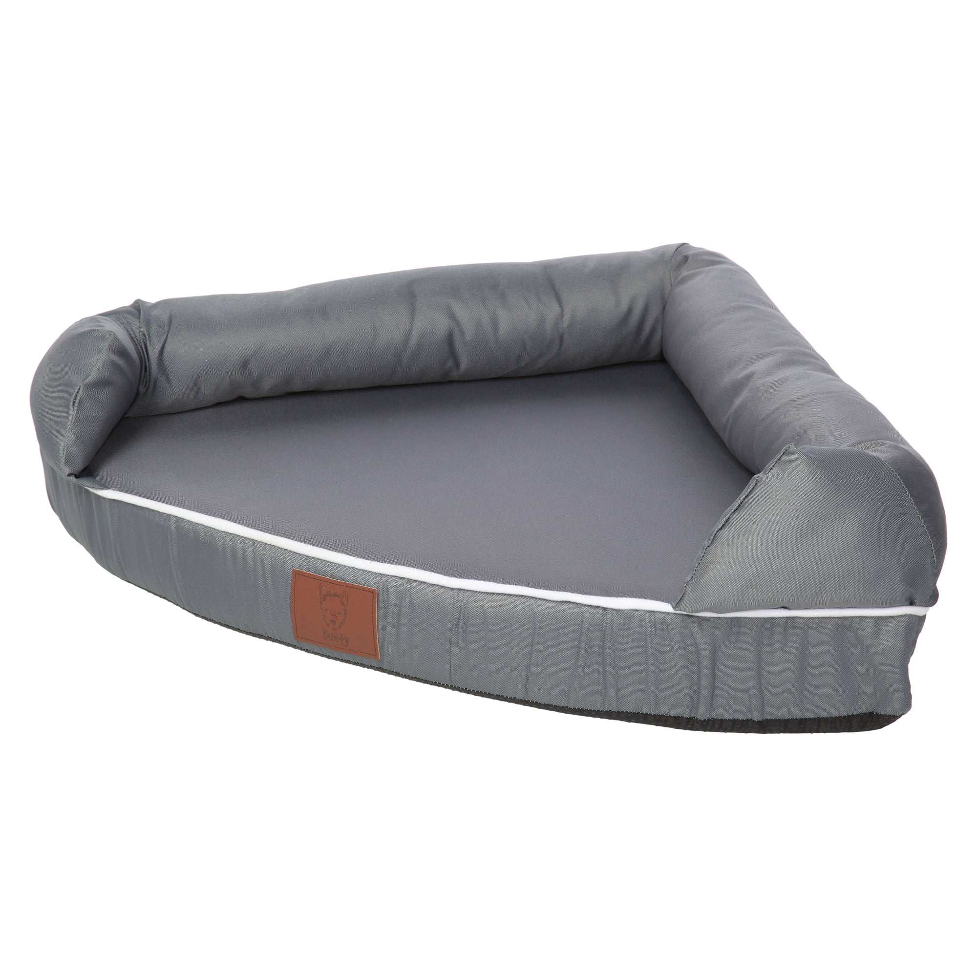 Bunty Grey Cosy Couch Corner Dog Bed Grey
