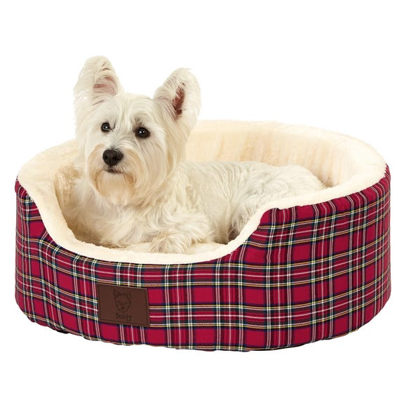 Bunty Red Heritage Dog Bed  undefined