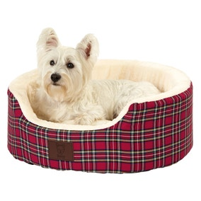 Bunty Red Heritage Dog Bed
