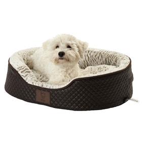 Bunty Brown Manhattan Quilted Dog Bed