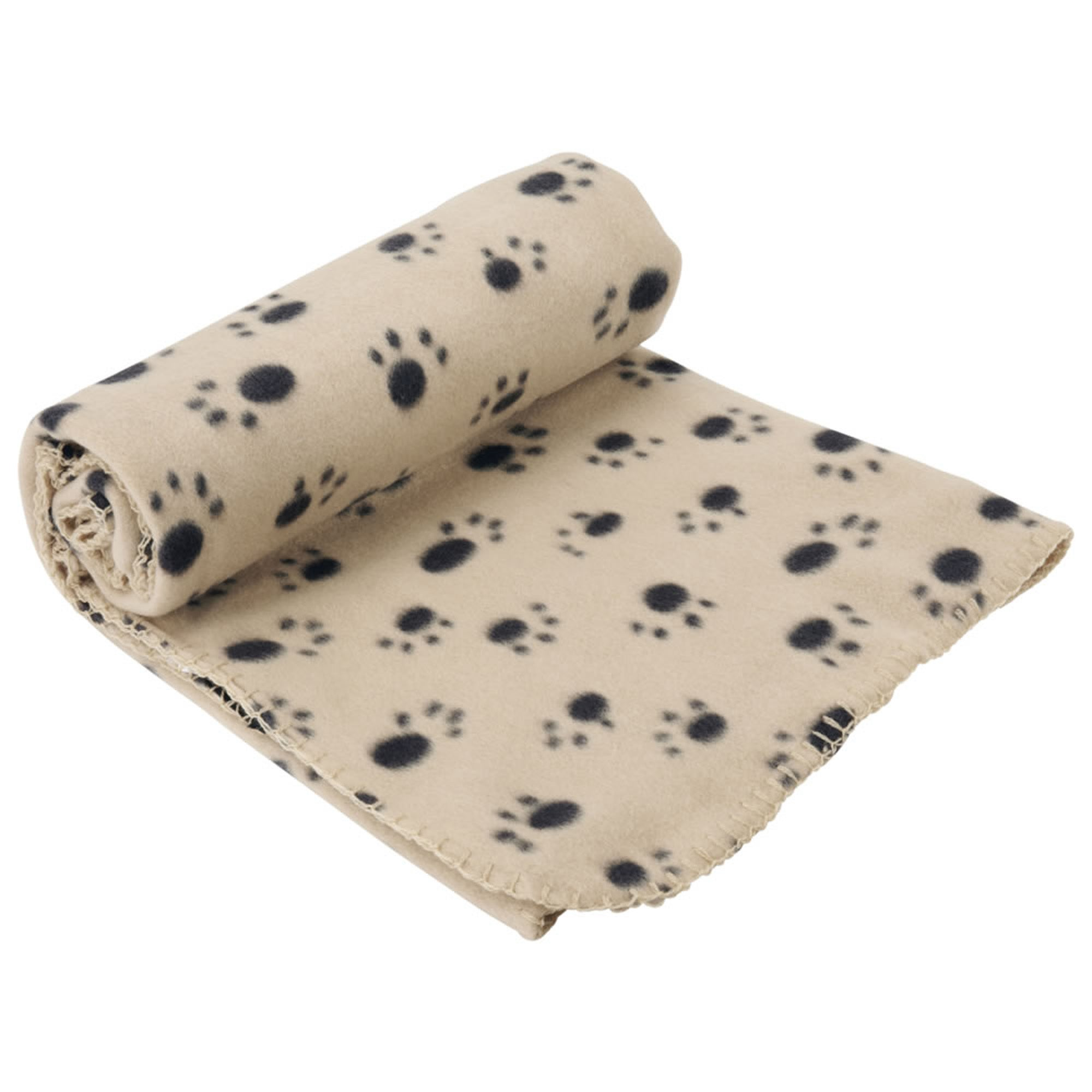 Extra Large Cream Dog Blanket Cream and Black