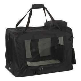 Bunty Black Fabric Pet Carrier