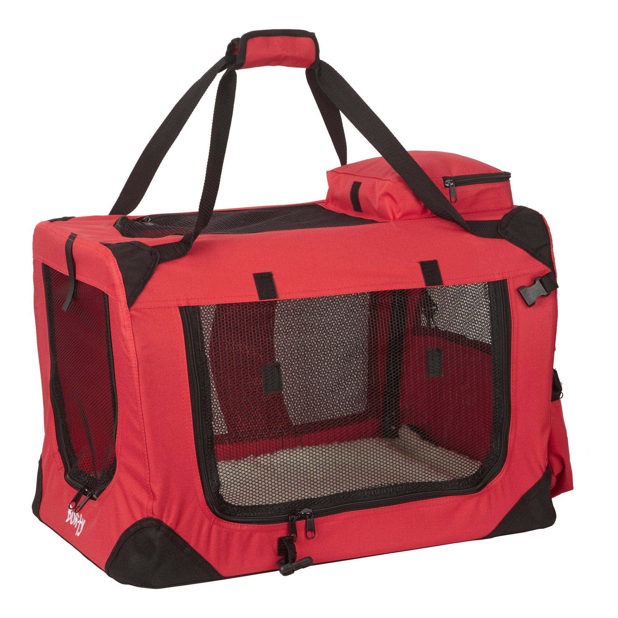 Bunty Red Fabric Pet Carrier Red