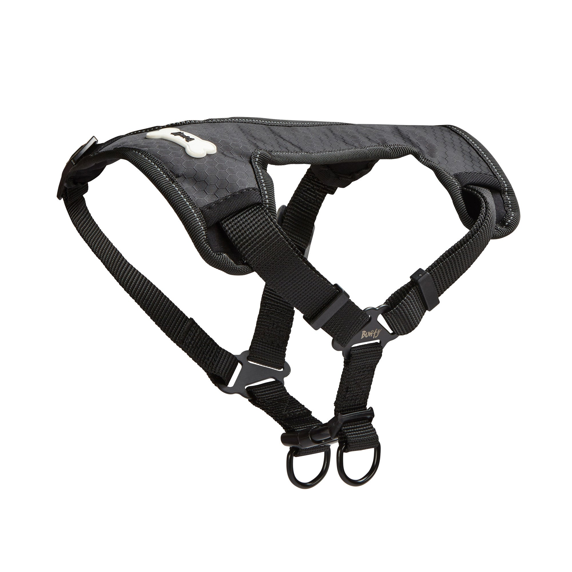 Bunty Black Strap 'N' Strole Dog Harness Black