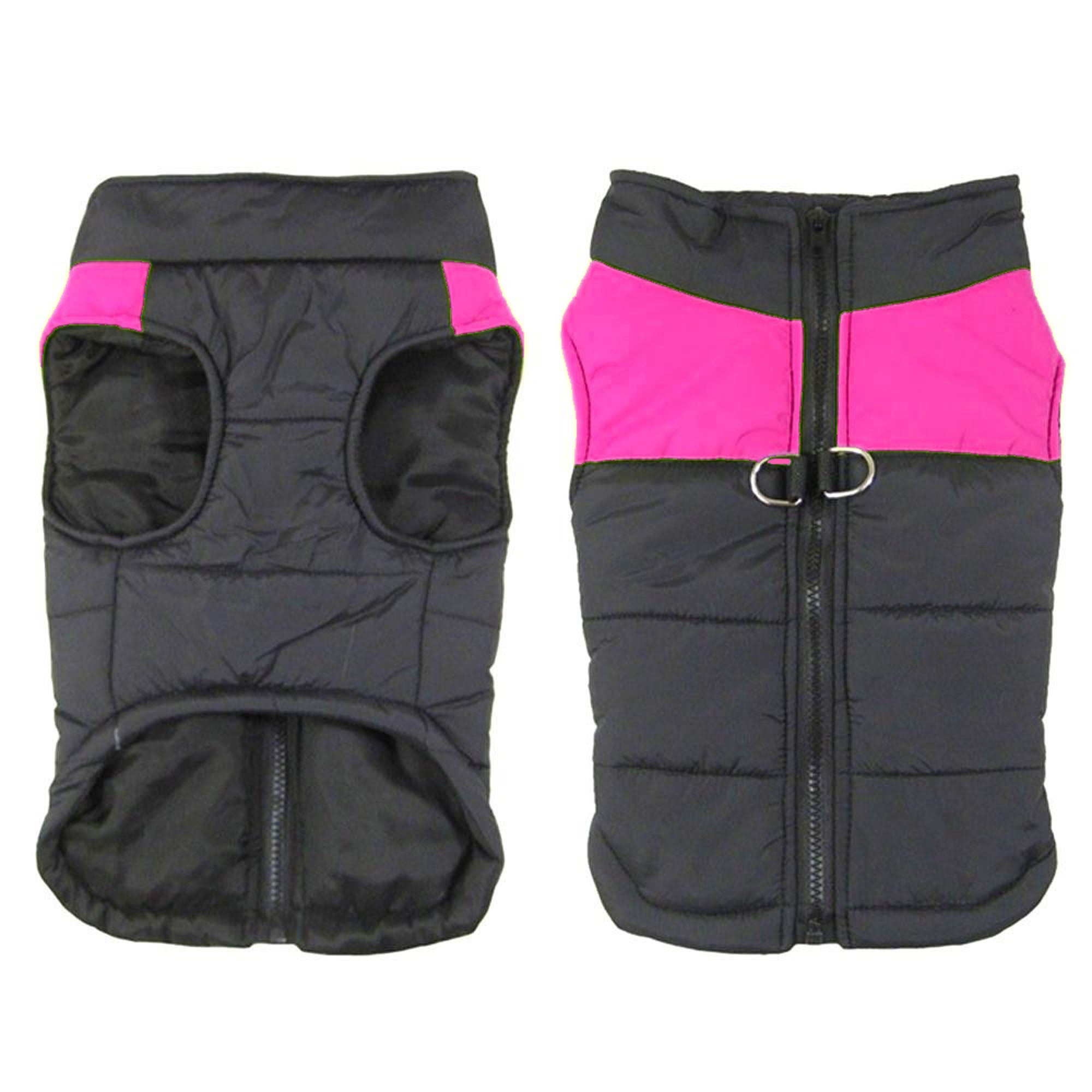 Bunty Pink Dog Puffer Jacket Pink and Black
