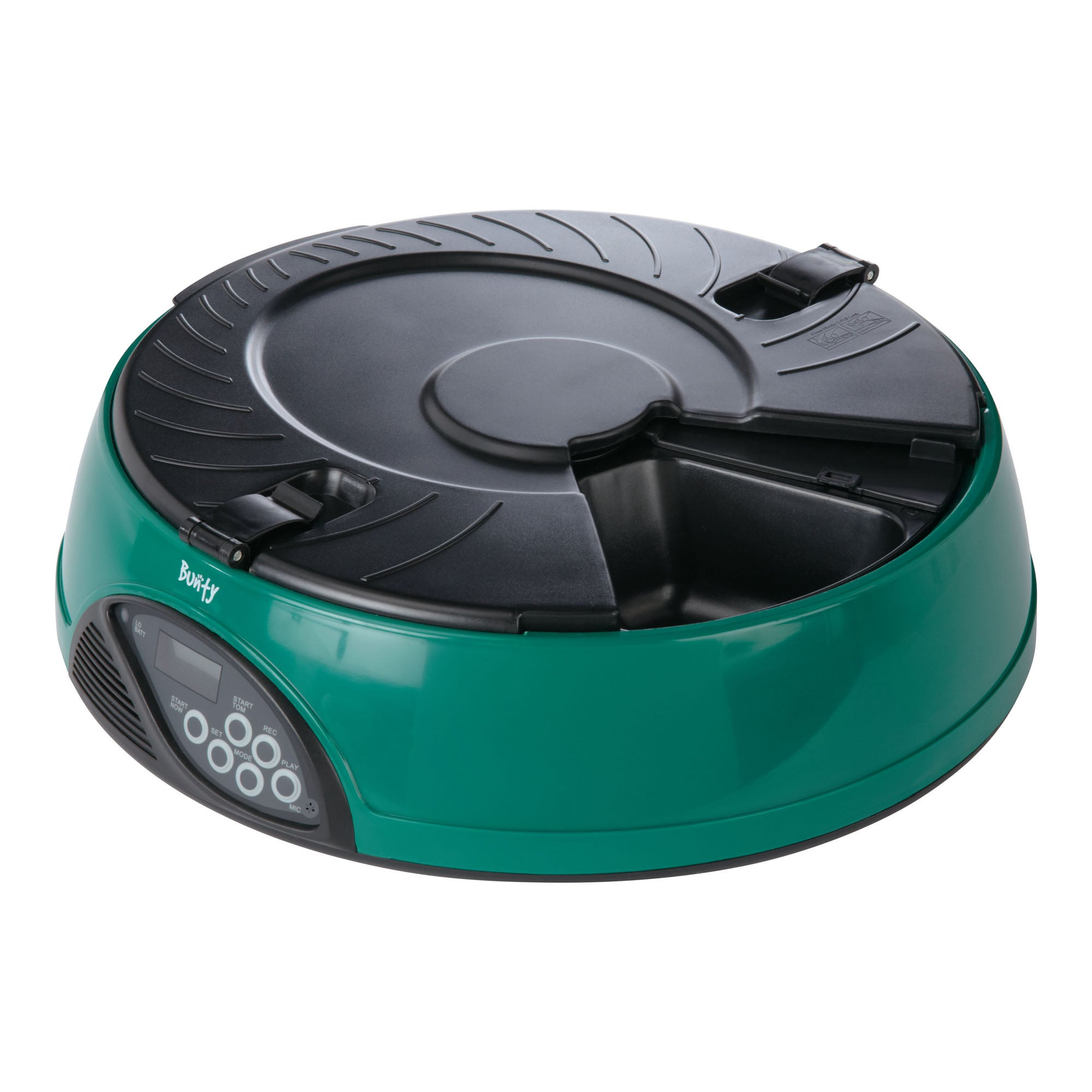 Bunty Green Automatic Pet Meal Dispenser Green and Black