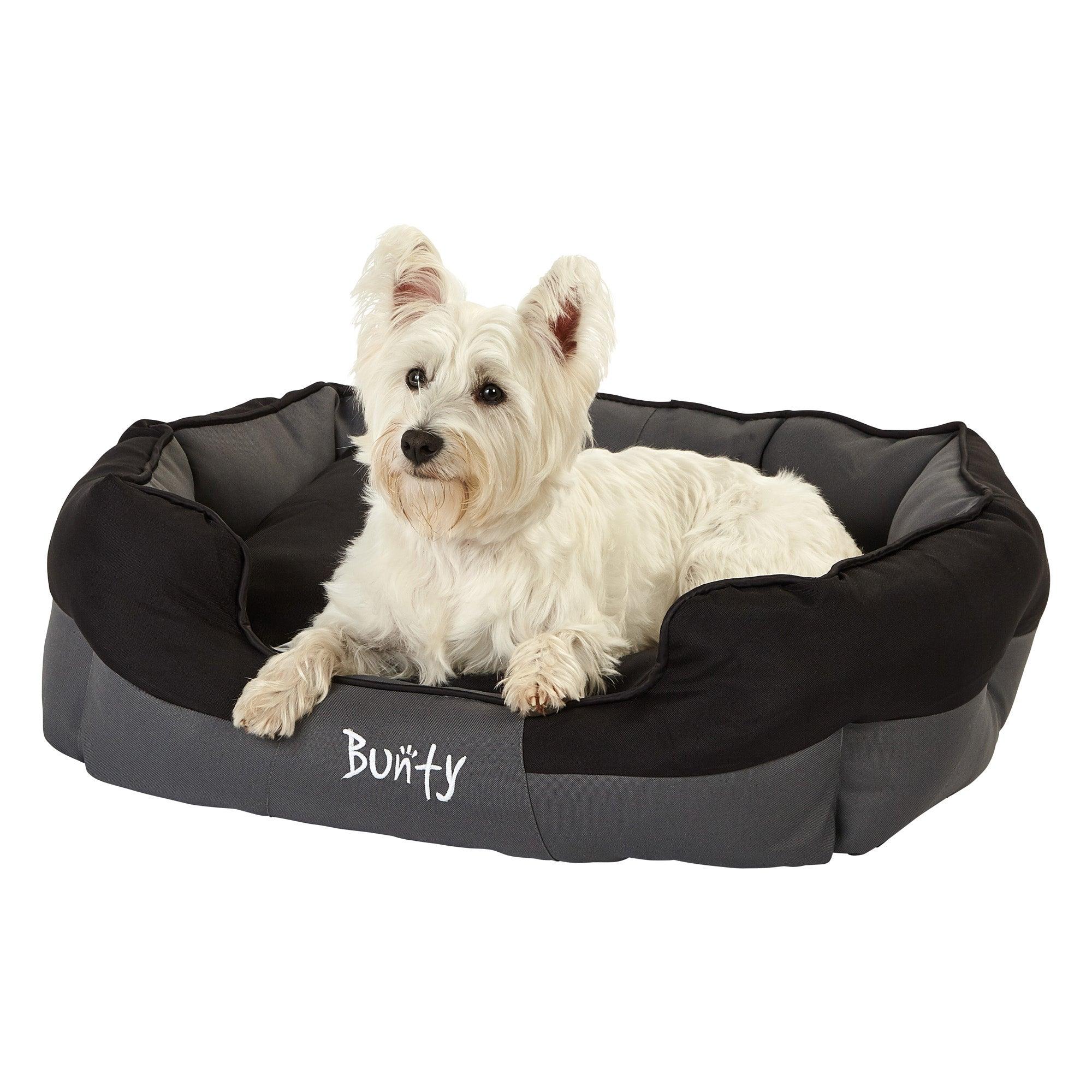 Bunty Black Waterproof Anchor Dog Bed Black