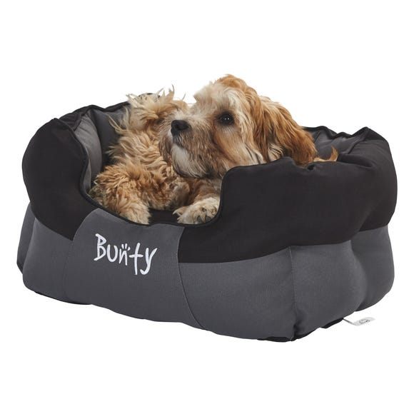 Bunty Black Waterproof Anchor Dog Bed  undefined