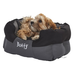 Bunty Black Waterproof Anchor Dog Bed