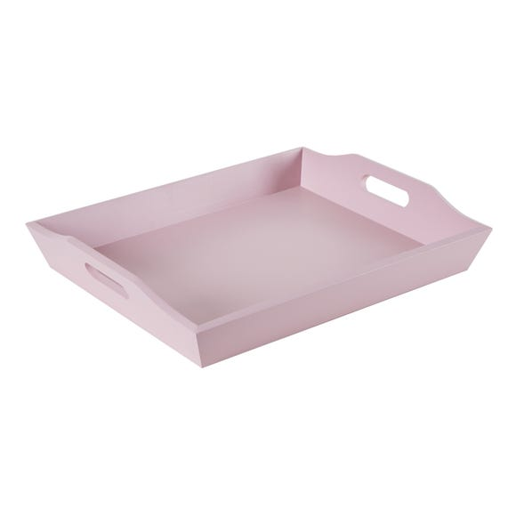 Blush Pink Wooden Lap Tray Pink