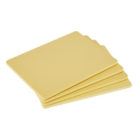 Pack of 4 Wooden Yellow Placemats