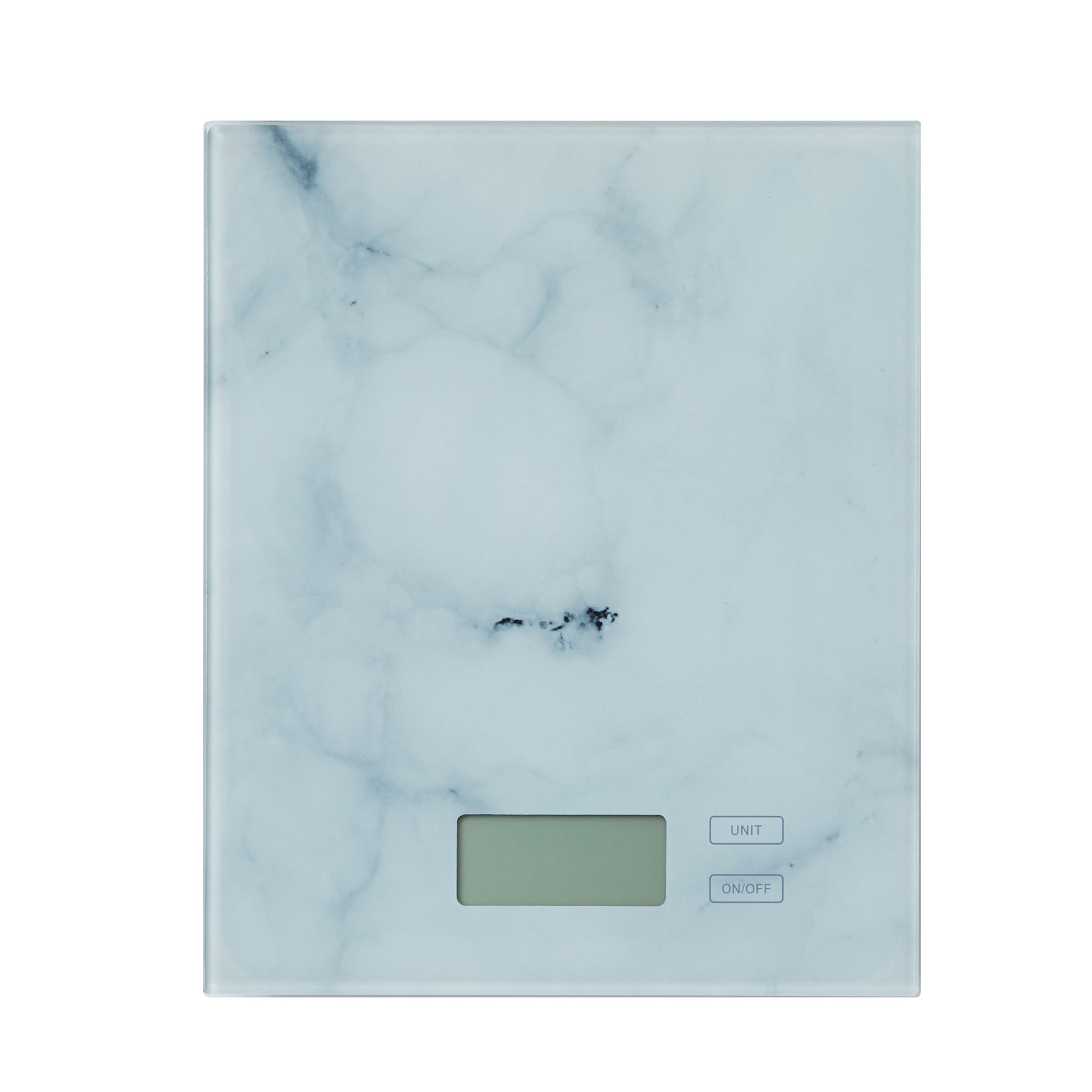 Dunelm Electronic Marble Effect Kitchen Scales White And Blue
