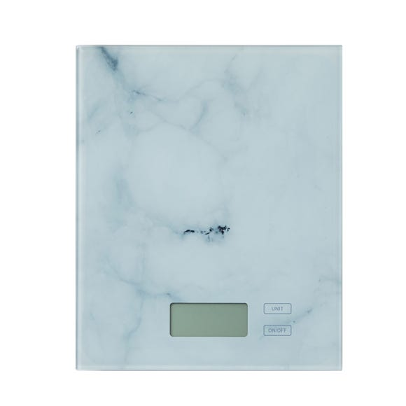 Dunelm Electronic Marble Effect Kitchen Scales White