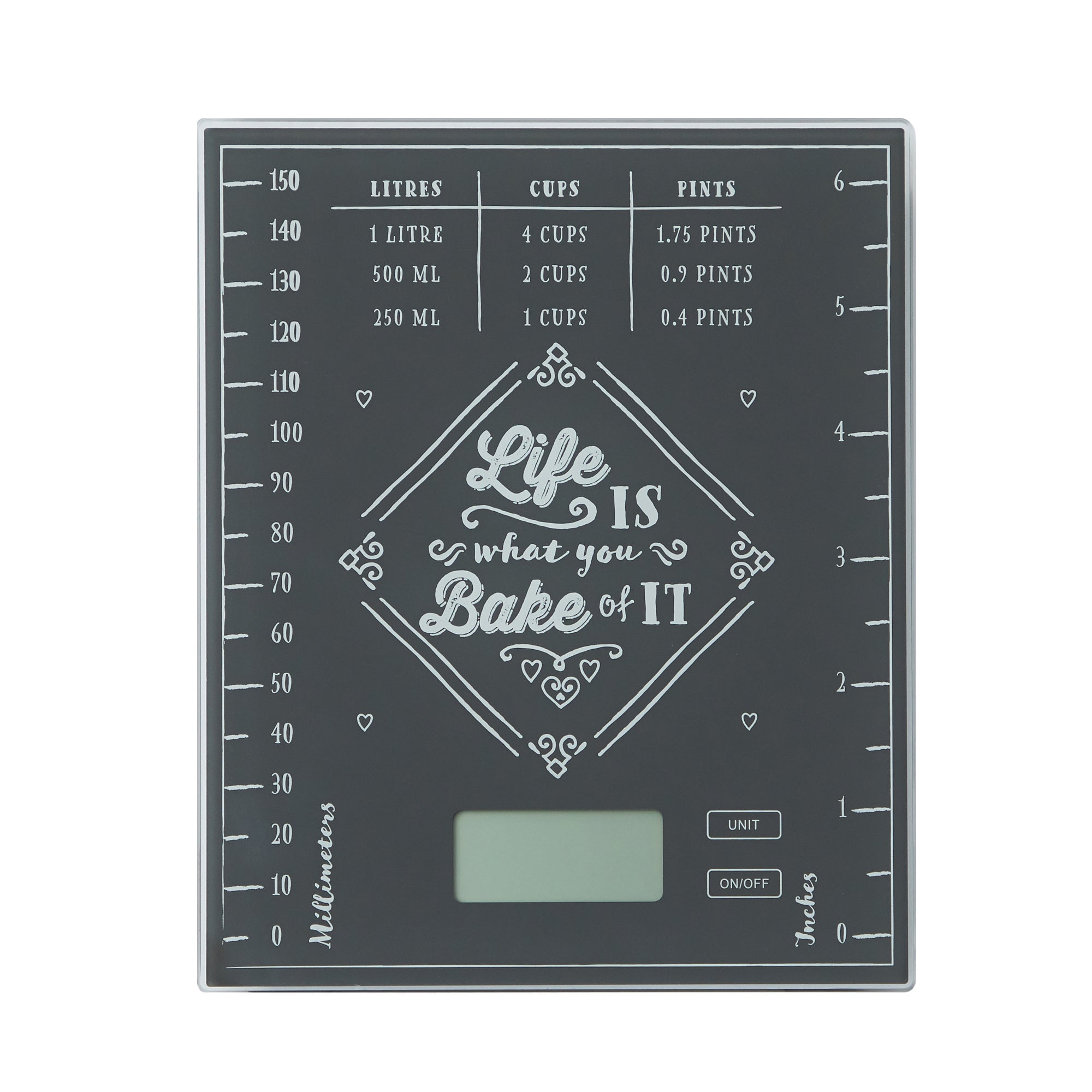 Dunelm Electronic Bake Of It Kitchen Scales Black And Grey