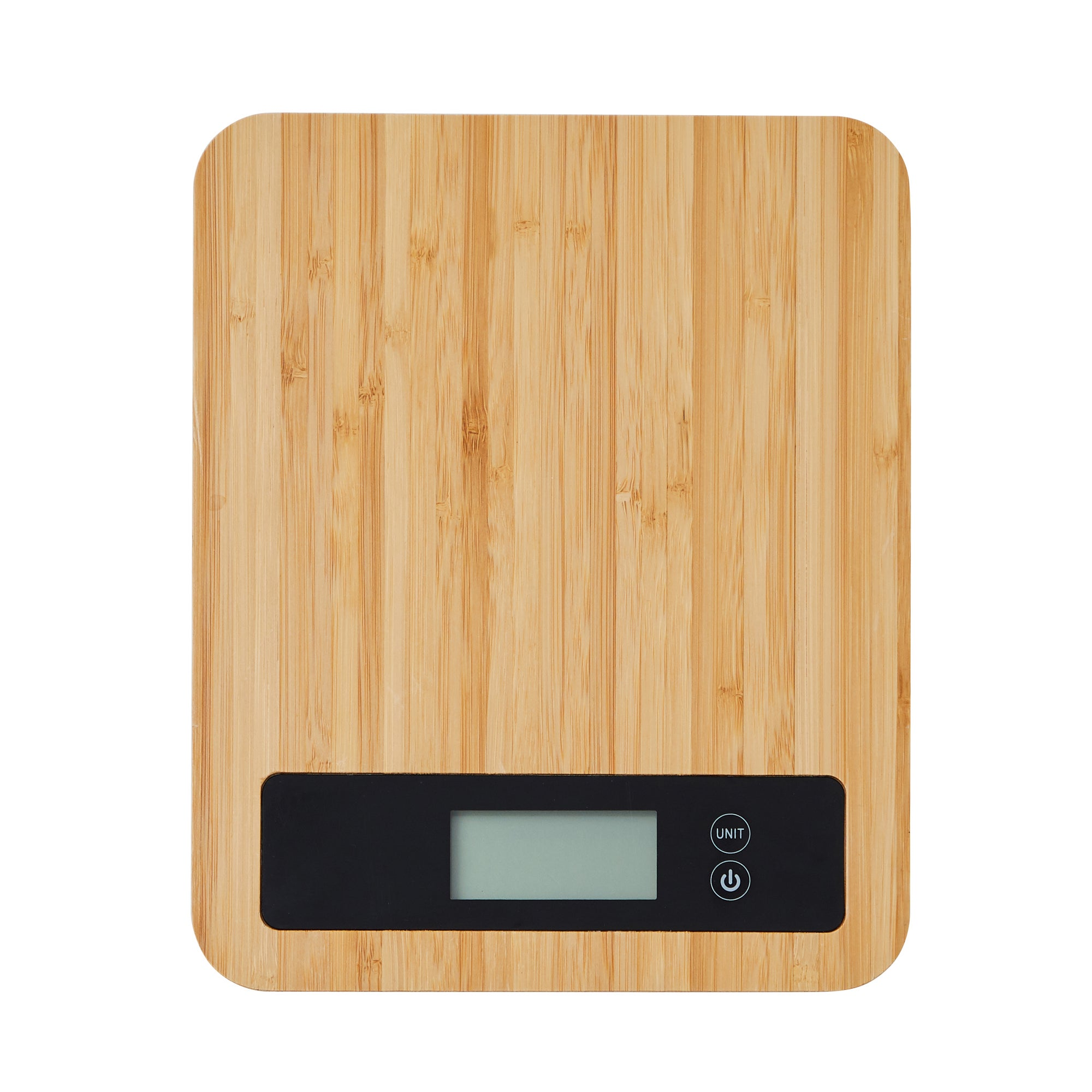 Dunelm Bamboo Electronic Kitchen Scales Brown And Black