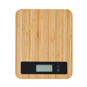 Dunelm Bamboo Electronic Kitchen Scales