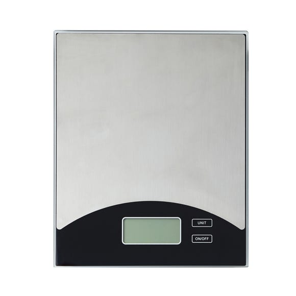 Dunelm Stainless Steel Electronic Kitchen Scales Silver