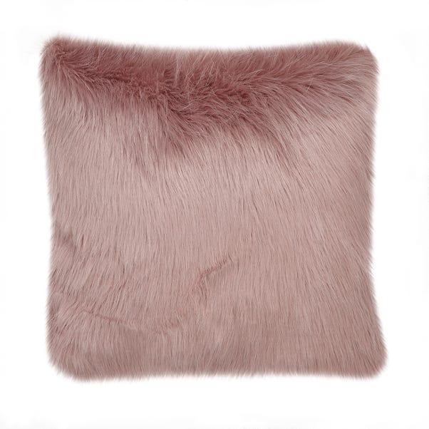 Fluffy Faux Fur Cushion Cover Blush undefined