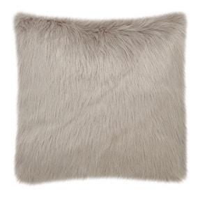 Fluffy Faux Fur Ochre Cushion Cover