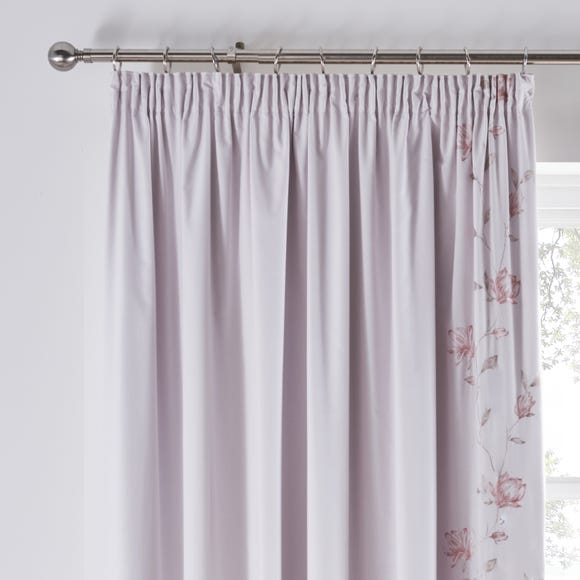 Magnolia Pink Blackout Pencil Pleat Curtains Pink undefined