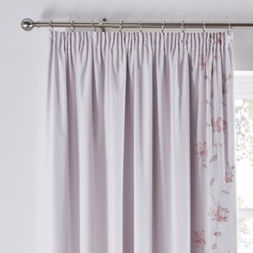 Magnolia Pink Blackout Pencil Pleat Curtains