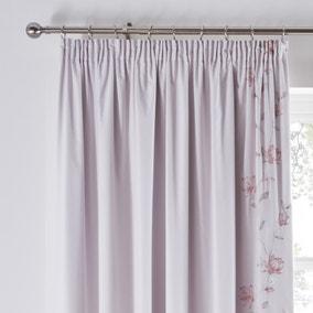 Magnolia Pink Blackout Pencil Pleat Curtains