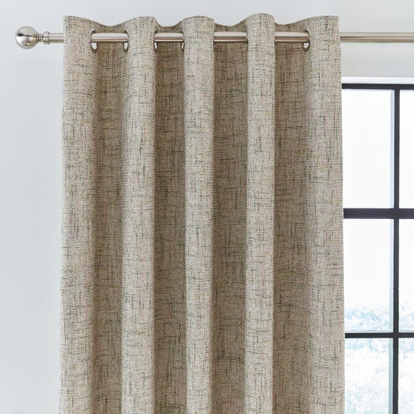 Boucle Textured Green Eyelet Curtains  undefined
