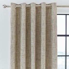 Boucle Textured Green Eyelet Curtains