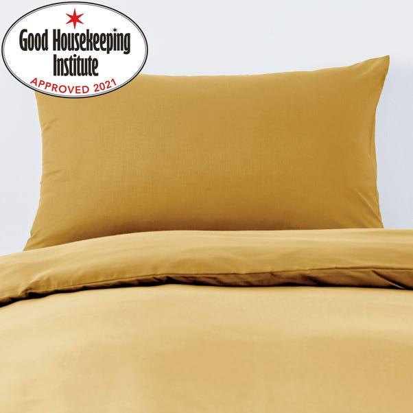 Non Iron Plain Dye Mustard Housewife Pillowcase Pair