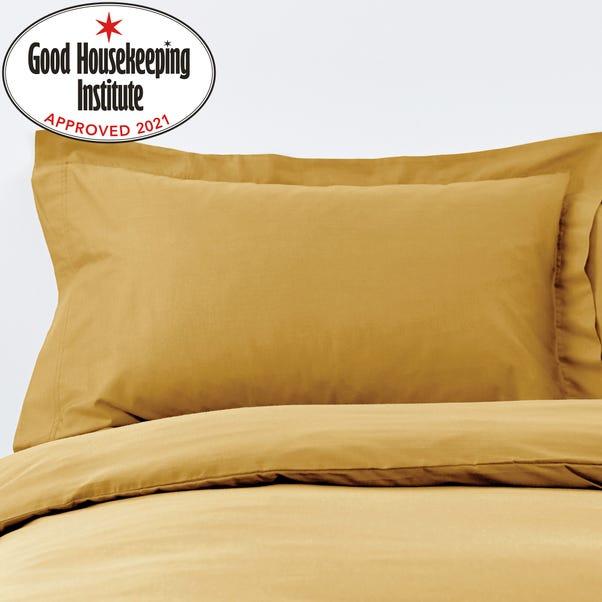 Non Iron Plain Dye Mustard Oxford Pillowcase