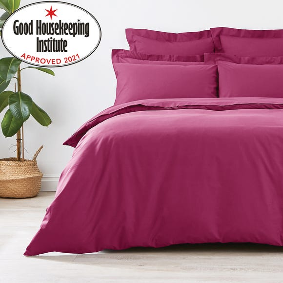 Non Iron Plain Dye Mulberry Duvet Cover Mulberry (Purple) undefined