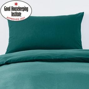 Non Iron Plain Dye Teal Housewife Pillowcase Pair