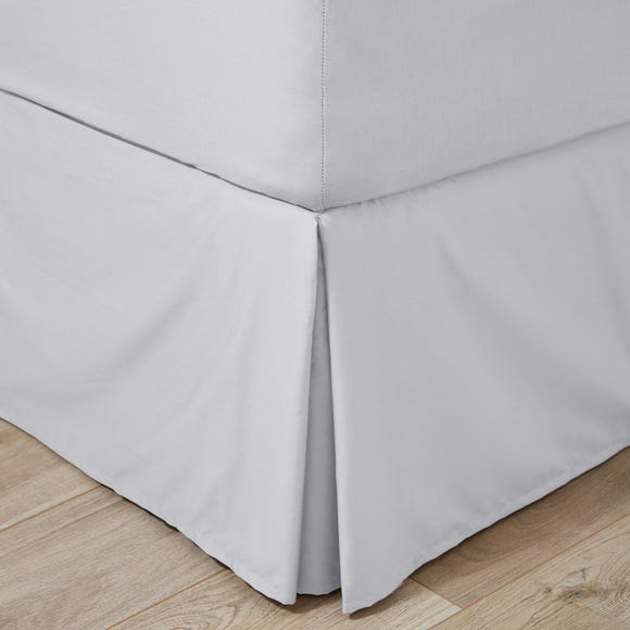 Easycare 100% Cotton 180 Thread Count Silver Valance  undefined
